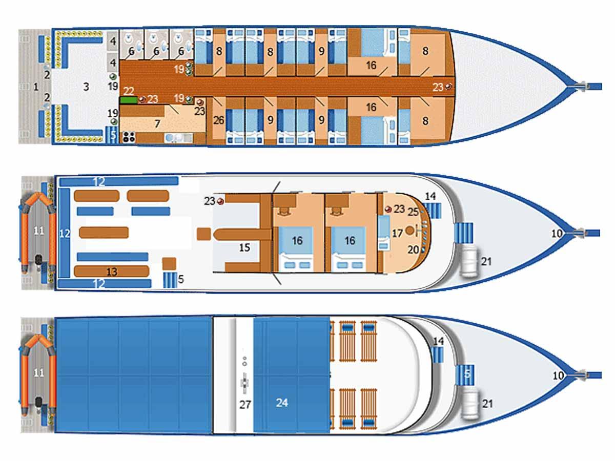 Dolphin Queen Deck Plan