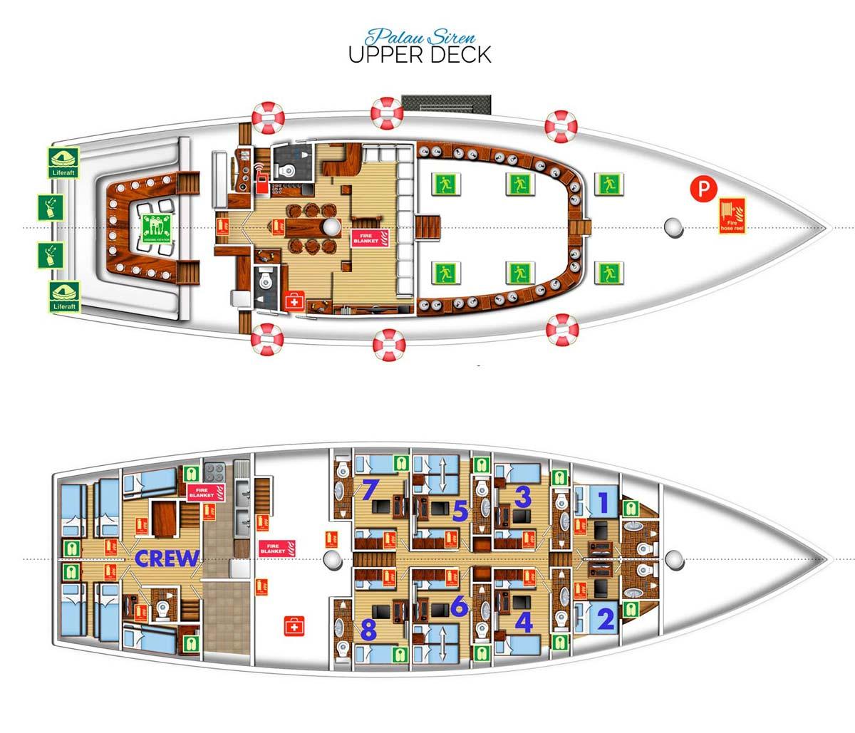Palau Siren Vessel Layout