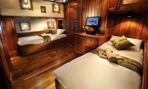 Palau Siren Deluxe Twin Bed Cabin