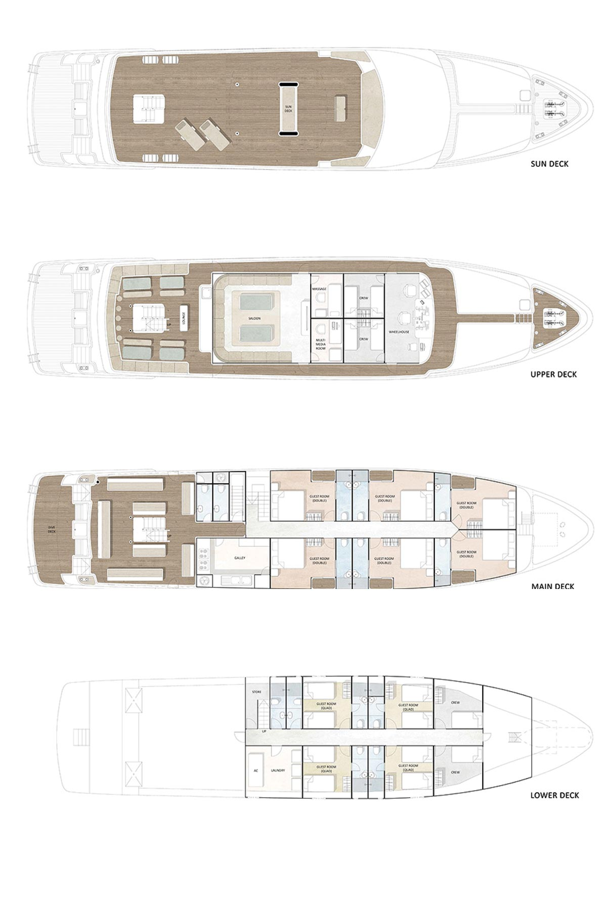 Dive Race Liveaboard Layouts