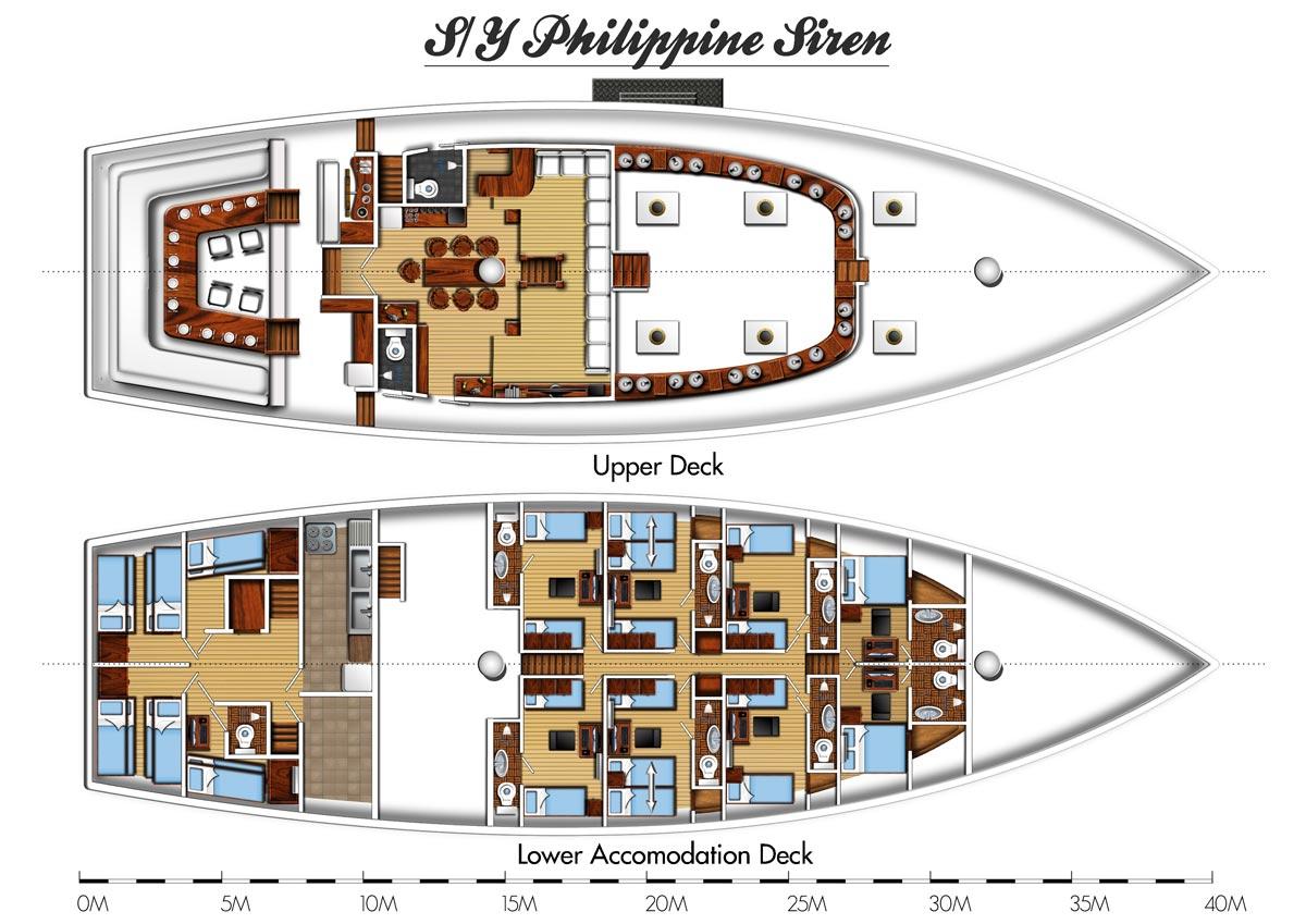 Philippine Siren Boat Layouts